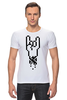 """Футболка Стрэйч (Мужская) """"Rock 8-bit"""" - geek, пиксель арт, 8-бит, коза, пиксельная графика"""