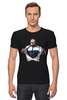 """Футболка Стрэйч (Мужская) """"Путин - Супермен"""" - супермен, superman, россия, политика, путин, президент, putin, путин арт, патриотические футболки, футболки с путиным"""