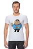 "Футболка Стрэйч ""Fat Spock"" - спок, обжорство, star track"