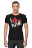 "Футболка Стрэйч (Мужская) ""Punks Not Dead"" - панк, anarchy, анархия, панк рок, punks not dead"