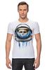 """Футболка Стрэйч (Мужская) """"Dead Astronaut"""" - skull, череп, космос, astronaut, dead, cosmos, шлем, космонавт"""