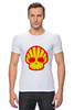 "Футболка Стрэйч (Мужская) ""Shell Skull"" - skull, череп, прикол, супер, стиль, логотип, shell"