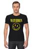 "Футболка Стрэйч (Мужская) ""Watchmen x Nirvana"" - смайл, nirvana, smile, хранители, watchmen"