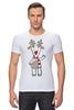 """Футболка Стрэйч (Мужская) """"Новогодняя фуфайка"""" - красивая, new year, white and snow-white, сказочная, christmas, reindeer"""
