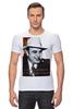 """Футболка Стрэйч (Мужская) """"Аль Капоне"""" - череп, пистолет, авторские майки, ny, кости, шляпа, пуля, chicago, нью йорк, гангстер"""