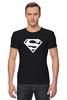 "Футболка Стрэйч (Мужская) ""Супермен"" - супер, supermen, s"