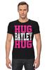 "Футболка Стрэйч (Мужская) ""Hug Bayley Hug (WWE)"" - wwe, hug, рестлинг, bayley, бэйли"