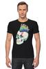 "Футболка Стрэйч ""Череп Панка"" - skull, череп, рок, punk, панк"