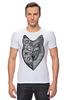 "Футболка Стрэйч ""волк (wolf)"" - графика, волк, wolf, дотворк"
