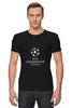 """Футболка Стрэйч (Мужская) """"UEFA  CHAMPIONS LEAGUE"""" - футбол, football, uefa, лига чемпионов, league, уефа, champions"""