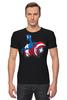 "Футболка Стрэйч ""Капитан Америка"" - комиксы, супергерои, marvel, капитан америка, captain america"