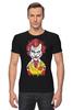 "Футболка Стрэйч (Мужская) ""Джокер МакДональд"" - joker, джокер, бэтмен, клоун, mcdonalds"
