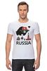 """Футболка Стрэйч """"Россия (Russia)"""" - москва, moscow, русский, россия, russian"""