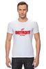 "Футболка Стрэйч (Мужская) ""Detroit Red Wings"" - хоккей, nhl, нхл, detroit red wings, детроит ред вингз"