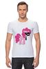 "Футболка Стрэйч (Мужская) ""My Little Pony - Пинки Пай (Pinkie Pie)"" - pony, mlp, пони, пинки пай"