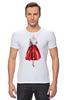 "Футболка Стрэйч ""Red skirt, red lips"" - красный, мода, fashion, красная юбка"