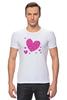 """Футболка Стрэйч (Мужская) """"""""LOVE"""""""" - праздник, сердце, любовь, розовое, девушке, девочке, сердечки"""