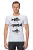 """Футболка Стрэйч (Мужская) """"Коллекция рыб"""" - рыба, fish, рыбалка"""