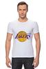 "Футболка Стрэйч (Мужская) ""Lakers"" - баскетбол, нба, лейкерс, lakers, los angeles lakers"