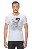 """Футболка Стрэйч (Мужская) """"Белый Медведь"""" - bear, медведь, белый медведь"""