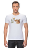 """Футболка Стрэйч """"Лис. Акварель"""" - fox, акварель, графика, лис, цветы"""