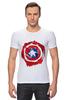 "Футболка Стрэйч (Мужская) ""Captain America "" - капитан америка, captain america"