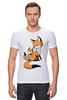 """Футболка Стрэйч (Мужская) """"Две Лисички (fox)"""" - fox, лиса, лисенок, лисичка"""