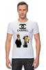 """Футболка Стрэйч (Мужская) """"Chanel"""" - прикол, юмор, симпсоны, духи, бренд, fashion, коко шанель, brand, the simpsons, coco chanel"""