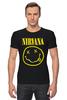"Футболка Стрэйч (Мужская) ""Nirvana (Нирвана)"" - grunge, гранж, nirvana, нирвана"