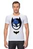 """Футболка Стрэйч (Мужская) """"Маска Бэтмена"""" - batman, бэтмен"""