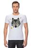 """Футболка Стрэйч (Мужская) """"Волк (Wolf)"""" - pixel, волк, wolf, полигоны, polygon"""