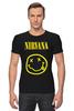 "Футболка Стрэйч (Мужская) ""Nirvana "" - nirvana, рок, kurt cobain, курт кобейн, нирвана"