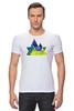 """Футболка Стрэйч """"Весна в горах"""" - орнамент, акварель, паттерн, треугольники, треугольный"""