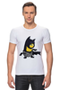 "Футболка Стрэйч (Мужская) ""Бэтмен "" - мультик, batman, бэтмен, миньоны"