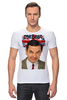 "Футболка Стрэйч (Мужская) ""Mr.Bean"" - мистер бин, mr bean, актёр, роуэн аткинсон, rowan atkinson"