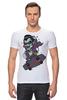 """Футболка Стрэйч """"Дракула на Скейте"""" - skate, dracula"""