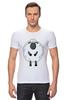 """Футболка Стрэйч (Мужская) """"Овечка Символ Нового 2015 года"""" - новый год, серый, белый, символ года, new year, мимими, sheep, 2015, овечка, няшмяш"""