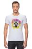 "Футболка Стрэйч ""Радужный енот"" - арт, радуга, rainbow, иллюстрация, енот, racoon"