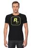 """Футболка Стрэйч (Мужская) """"Rockstar Staff T-Shirt"""" - rockstar, rockstar games"""