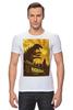 "Футболка Стрэйч (Мужская) ""Godzilla yellow"" - фильмы, динозавр, годзилла, godzilla, фатастика"
