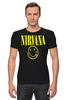 "Футболка Стрэйч (Мужская) ""Nirvana"" - nirvana, рок, курт кобейн, нирвана, куртка бейна"