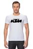 "Футболка Стрэйч ""KTM moto"" - motorcycle, bikes, ktm"