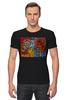 """Футболка Стрэйч (Мужская) """"Basquiat"""" - черепа, граффити, корона, basquiat, баския"""