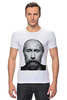 "Футболка Стрэйч (Мужская) ""Путин с бородой"" - путин, борода, putin"