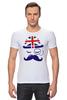 """Футболка Стрэйч """"Английский джентельмен"""" - джентельмен, усы, uk, великобритания, моноколь"""