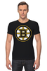 "Футболка Стрэйч (Мужская) ""Boston Bruins"" - медведь, хоккей, nhl, бостон, boston bruins"