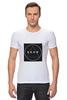 """Футболка Стрэйч """"Футболка с логотипом LOOK"""" - современная, круг, молодежная, квадрат, look, swag, trap, triangle, черный квадрат, абстракт"""
