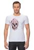 """Футболка Стрэйч """"Цветочный Череп"""" - skull, для девушек, цветы, черепа"""