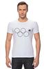 """Футболка Стрэйч """"Олимпийские кольца в Сочи 2014"""" - олимпиада, нераскрывшееся олимпийское кольцо, олипийские кольца, сочи-2014"""
