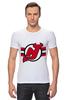 """Футболка Стрэйч (Мужская) """"Нью-Джерси Девилс"""" - хоккей, nhl, нхл, нью-джерси девилс, new jersey devils"""